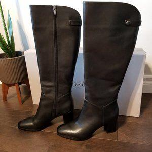 "Franco Sarto Black Leather ""Ilisa"" Boots NWT"